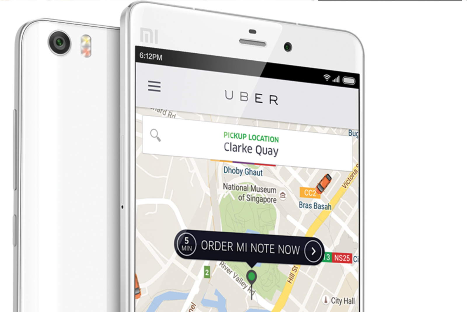 Order Xiaomi Mi Note through Uber