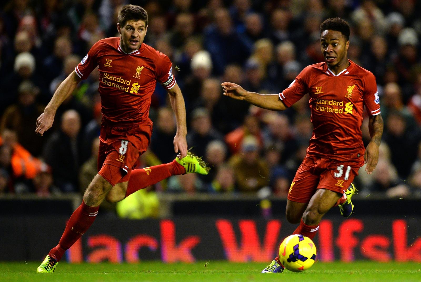 Steven Gerrard Raheem Sterling Liverpool