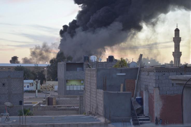 Black smoke billows from Sabha