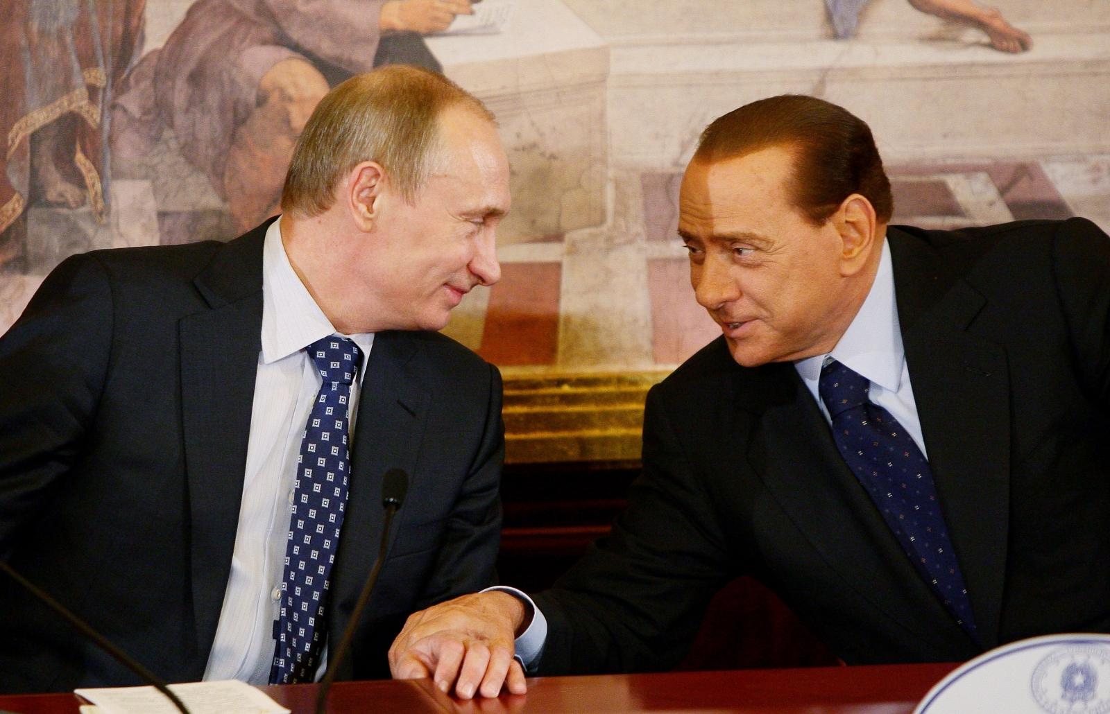 Putin and Berlusconi