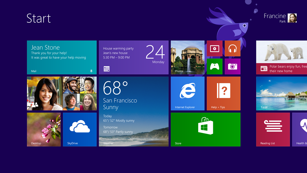 Windows 8.1 Metro UI Start Screen