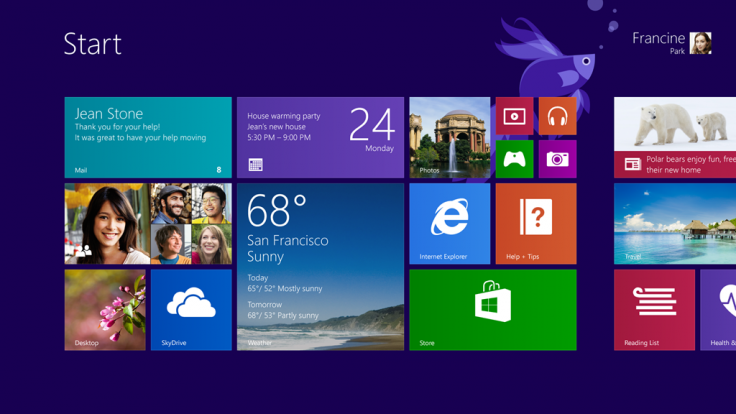 Windows 8.1 Metro UI Start Screen