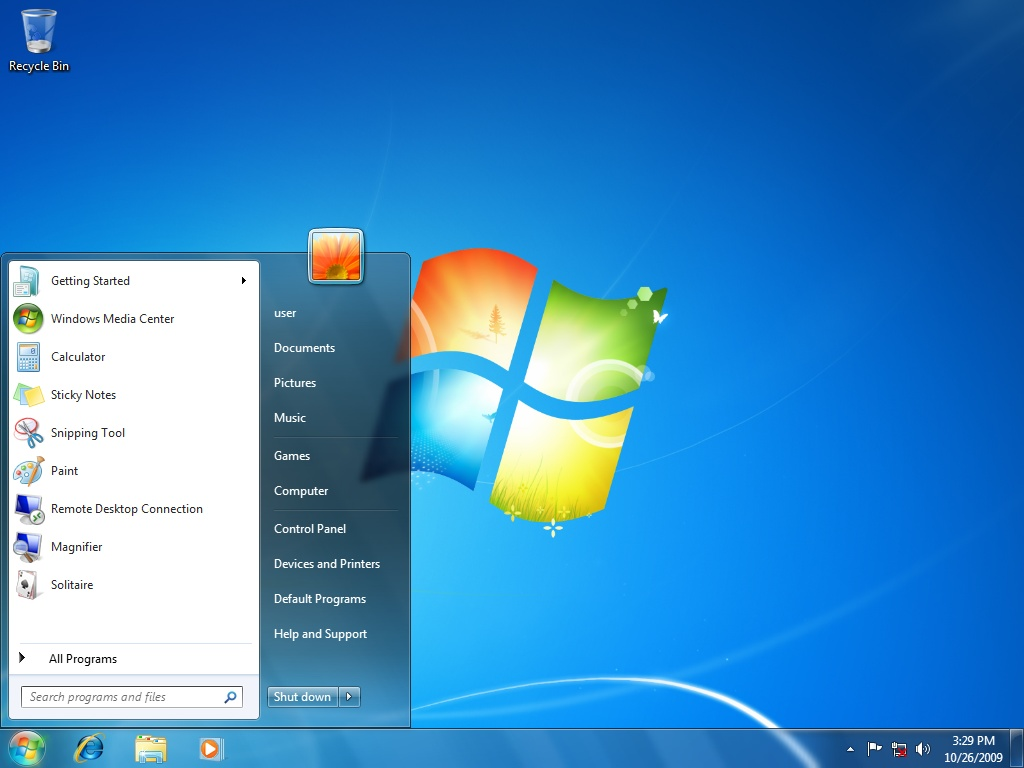 Windows 7 desktop