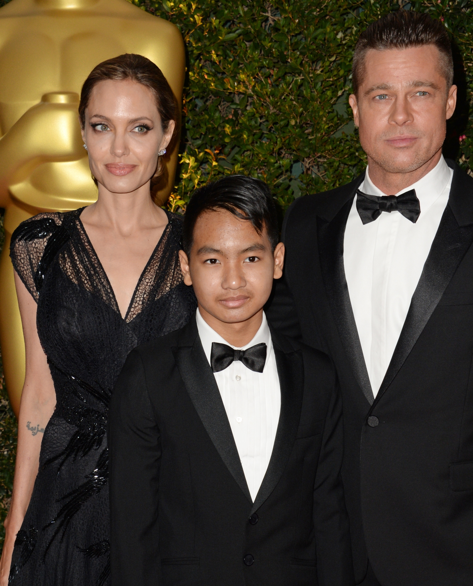 Angelina Jolie, Maddox and Brad Pitt