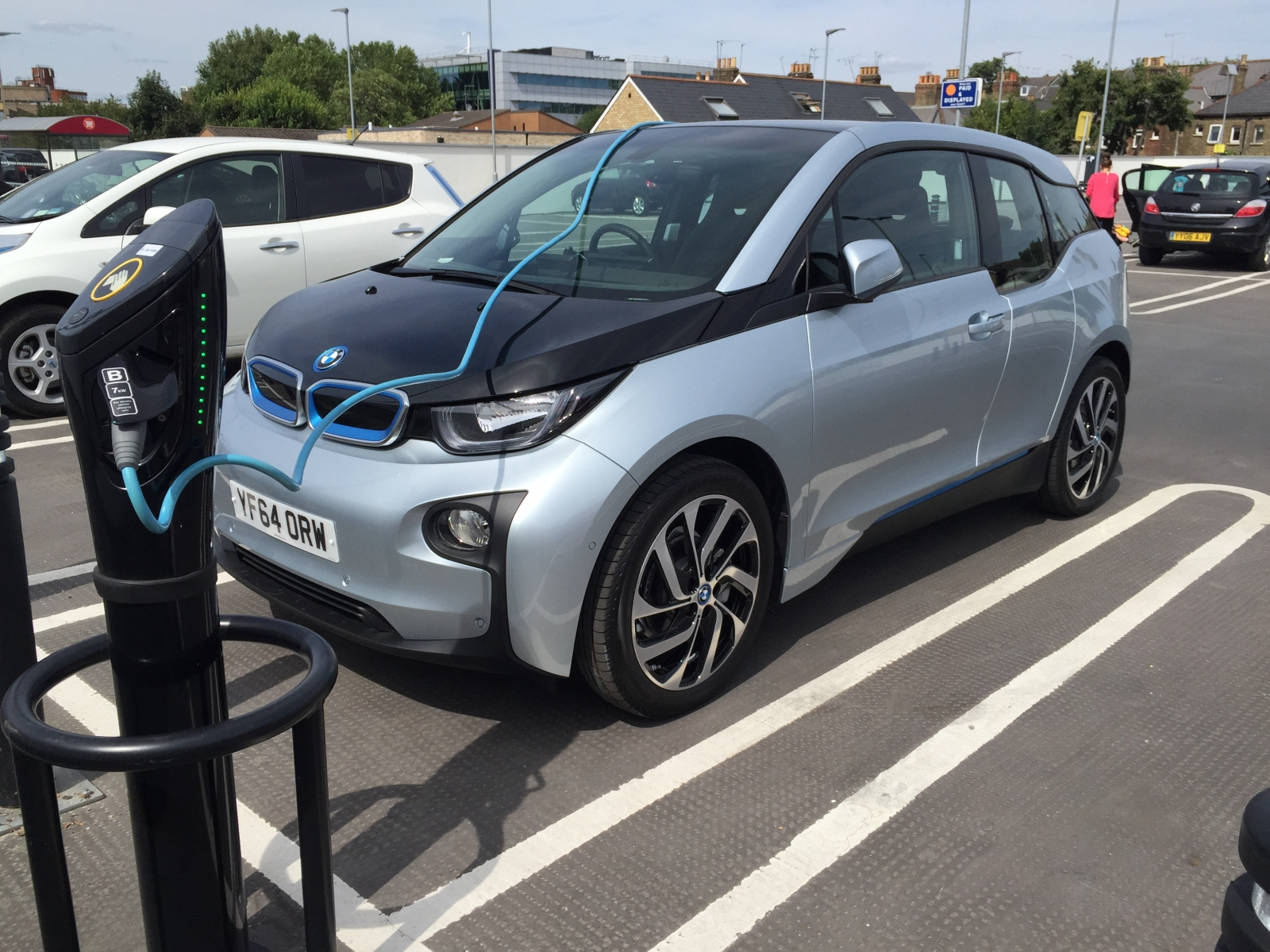 BMW i3 electric car charging