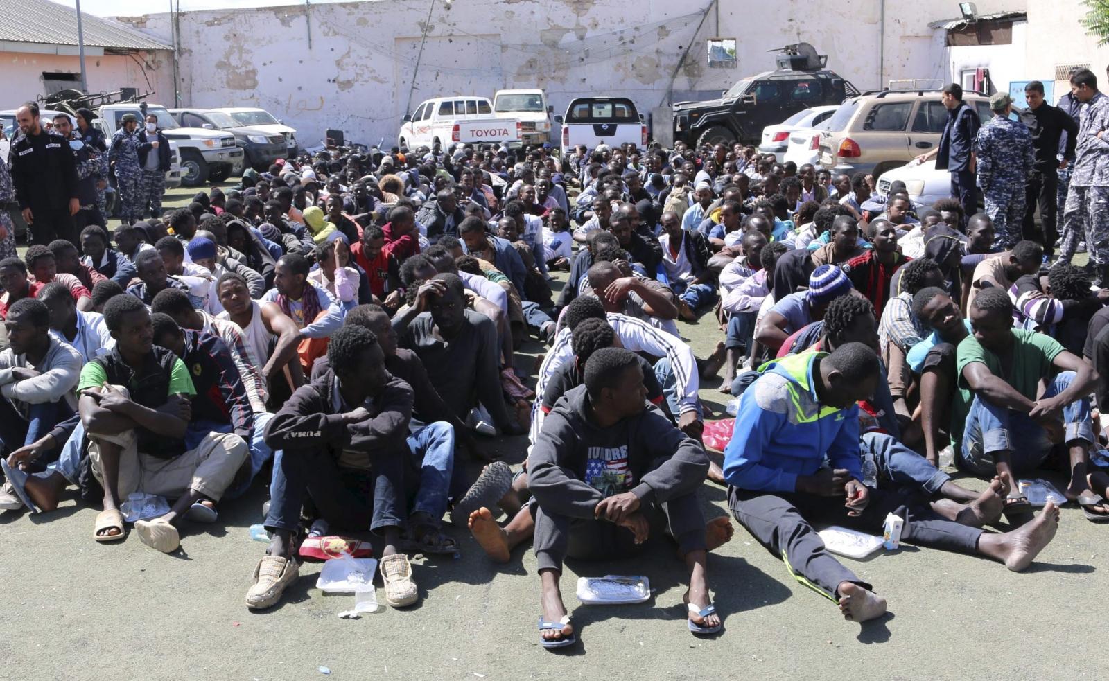 Migrants in Tripoli
