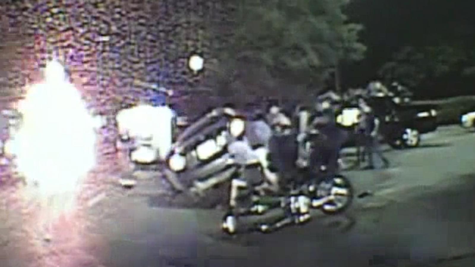Dallas police lift car