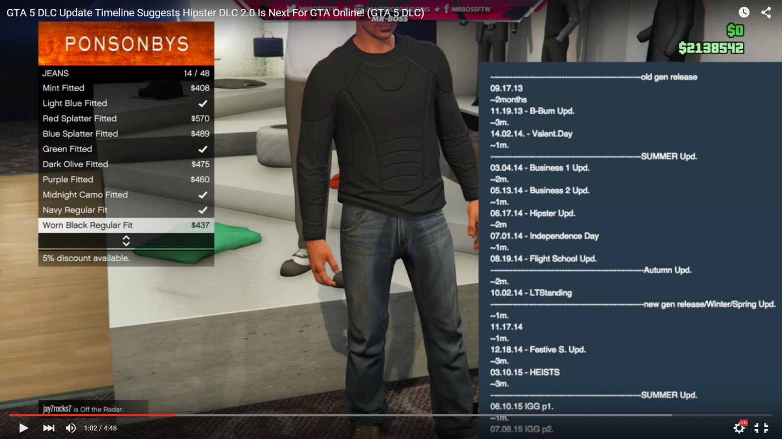 GTA 5 DLC release timeline