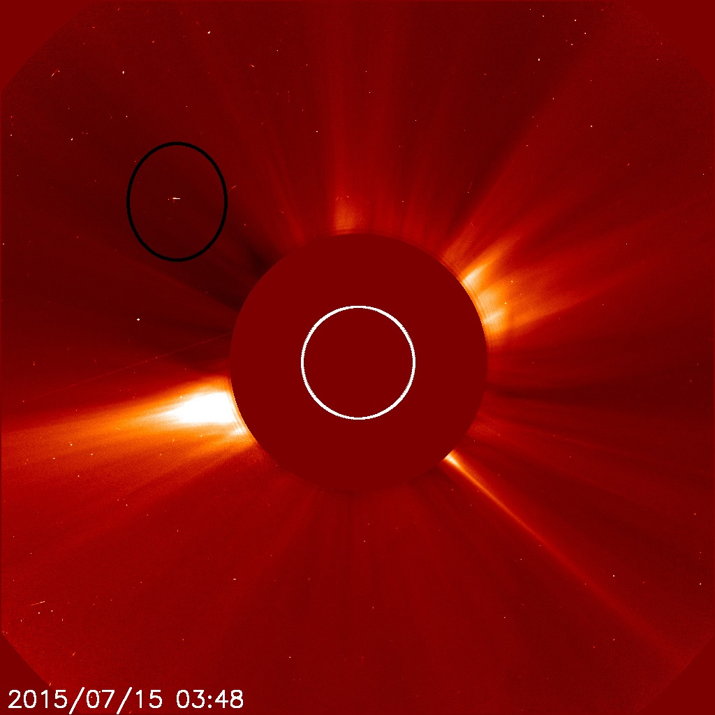 Alien spacecraft spotted hovering near sun in Nasa images; UFO theorists weigh in