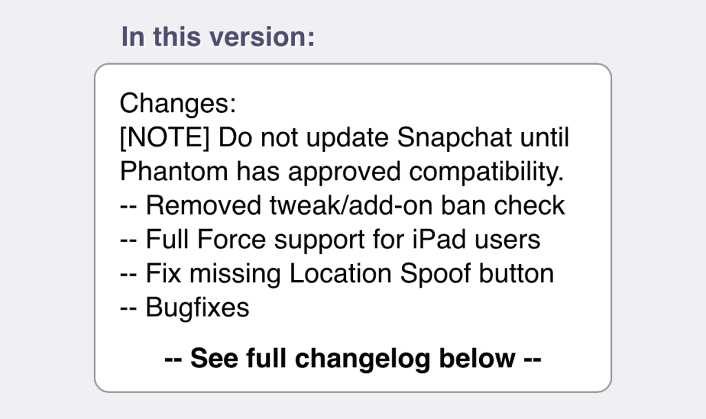 Phantom tweak (4.3.2) updated to avert Snapchat's potential jailbreak lockouts