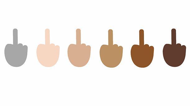 Middle finger emoji