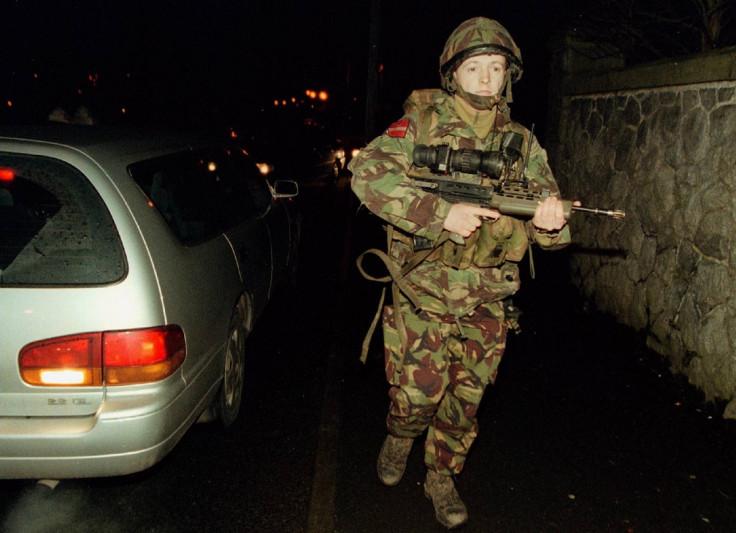 British Army soldier patrol Bessbrook 1997
