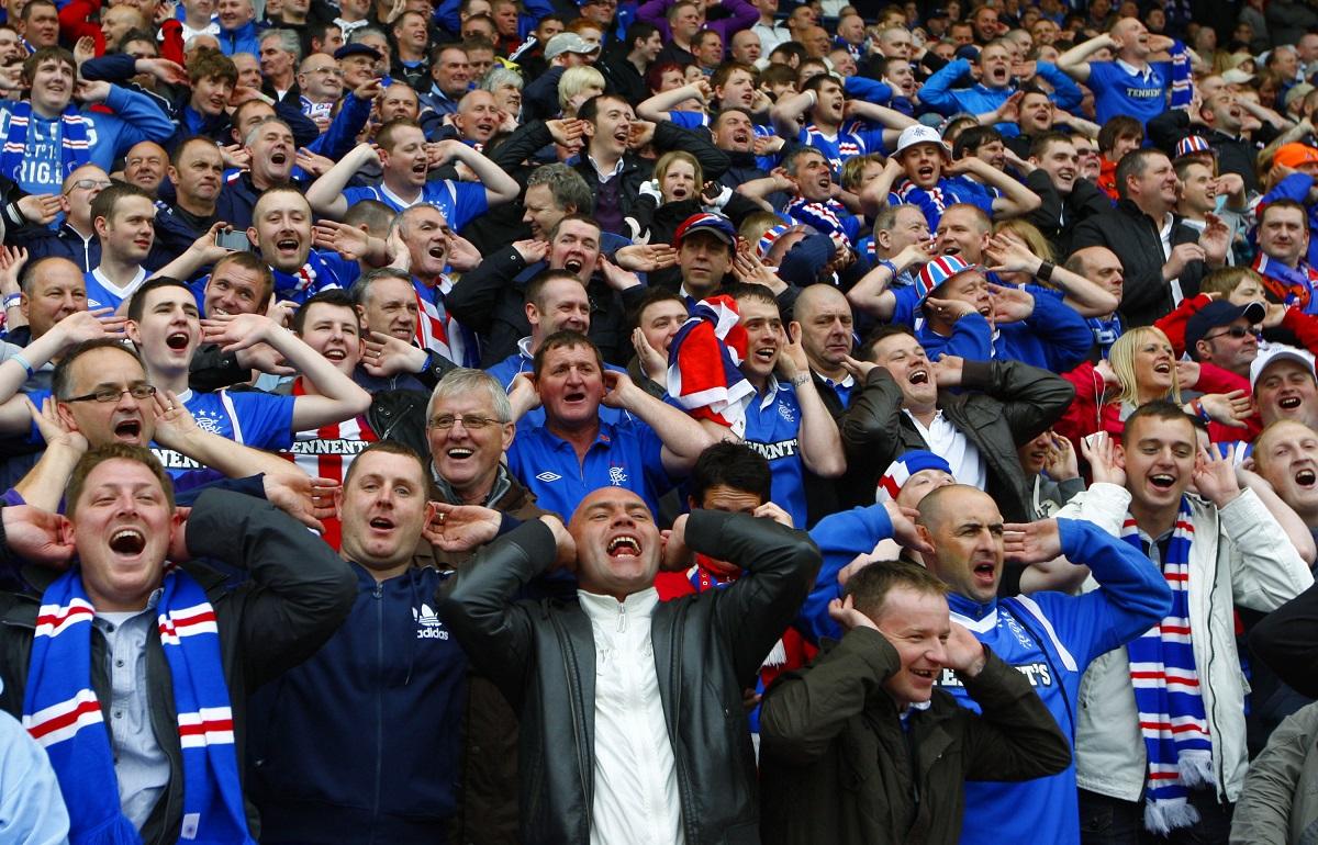 Rangers FC fans singing