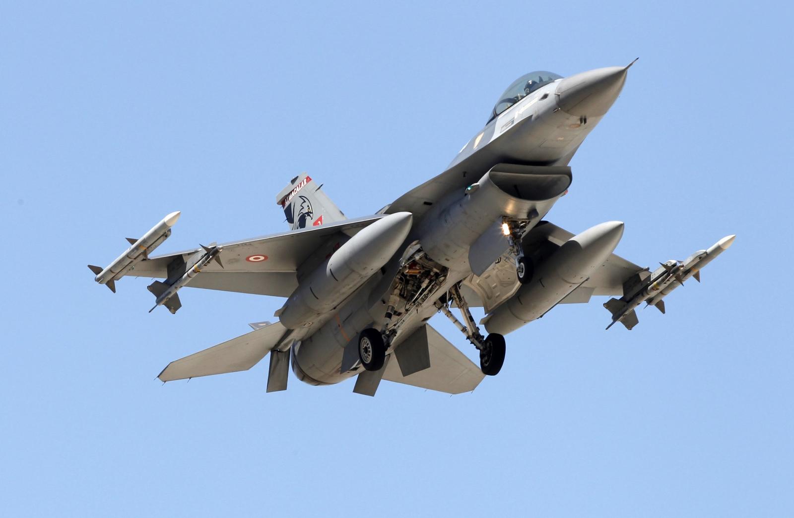 Turkey air force F-16 jet
