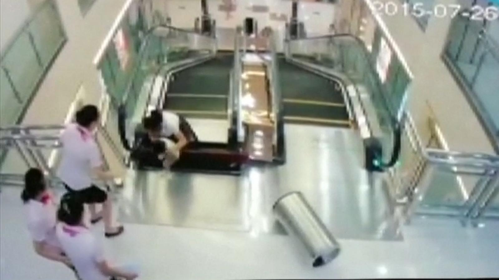 Chinese woman escalator incident