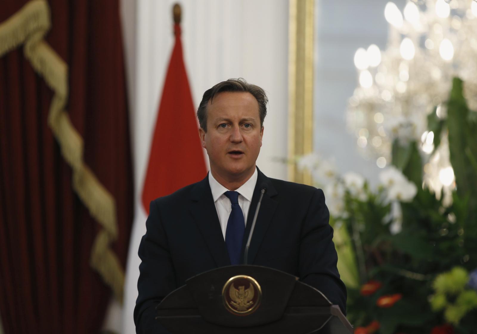 David Cameron in Jakarta