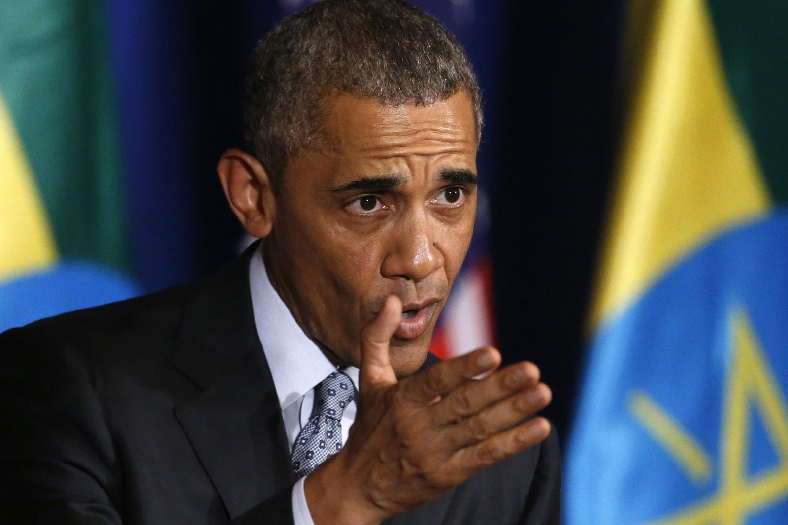 Barrack Obama in Addis Ababa