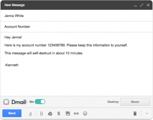 Dmail web extension for Gmail