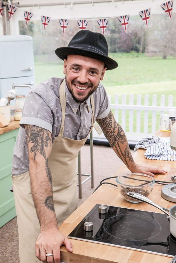 Stu from The Great British Bake Off
