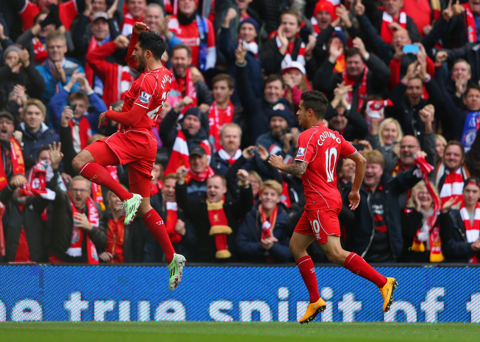 Philippe Coutinho and Emre Can