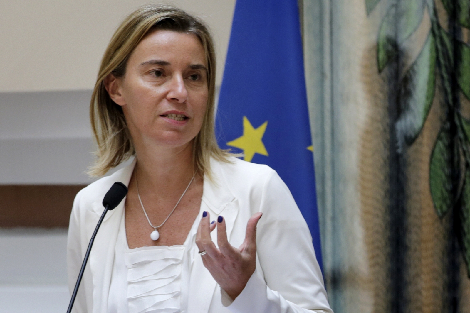 EU Foreign Policy Chief Federica Mogheirni