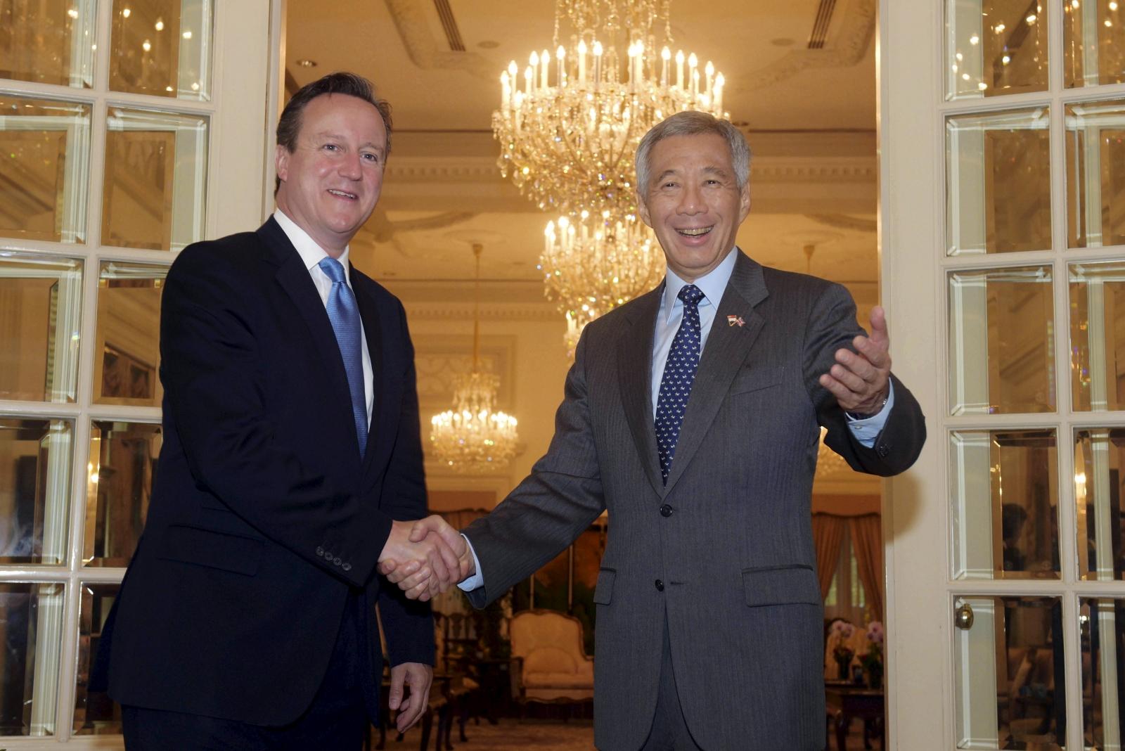 David Cameron Singapore visit
