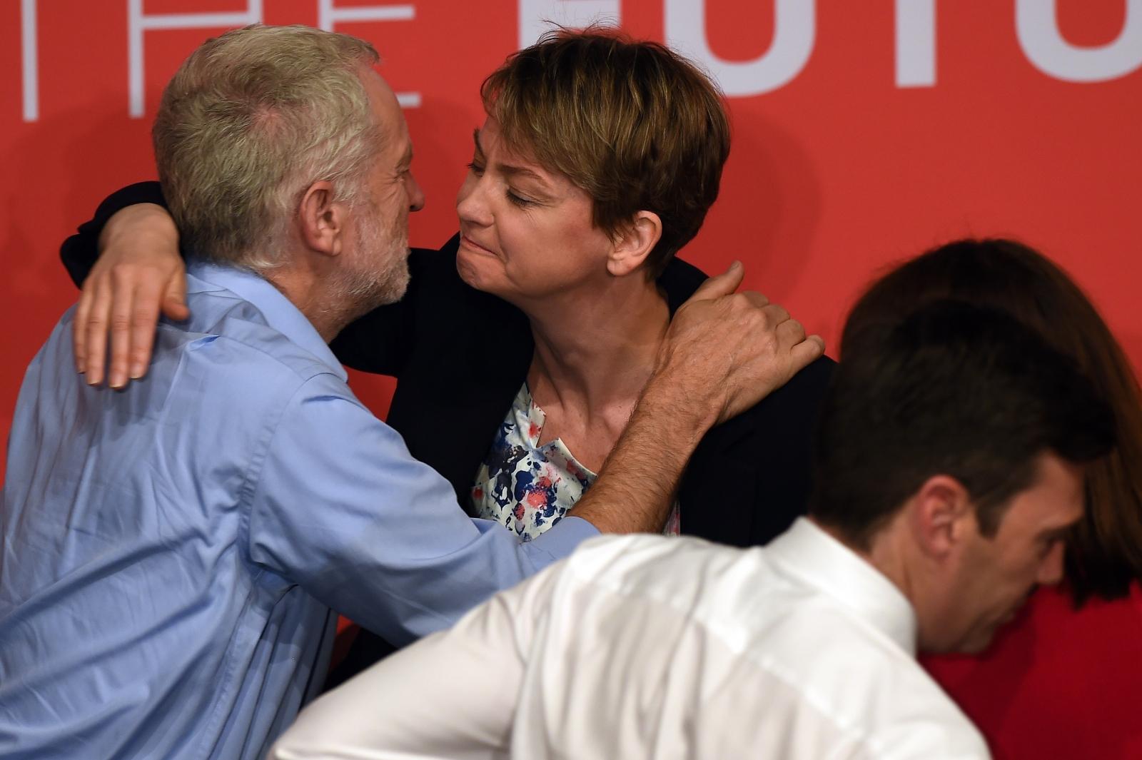Jeremy Corbyn and Yvette Cooper