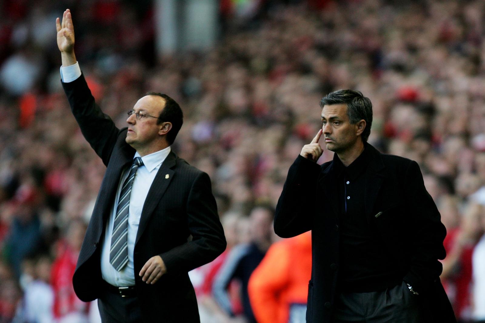 Rafa Benitez and Jose Mourinho