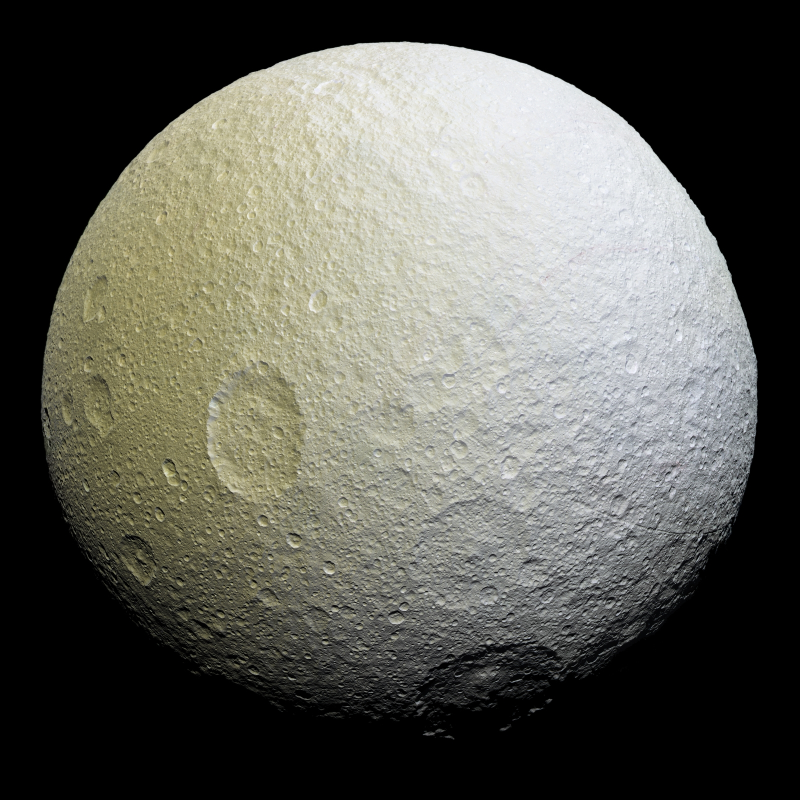Saturn's icy moon Tethys