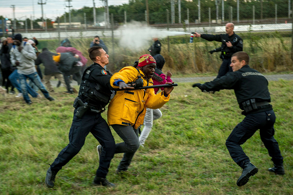 Calais migrants Coquelles Calais France Eurotunnel