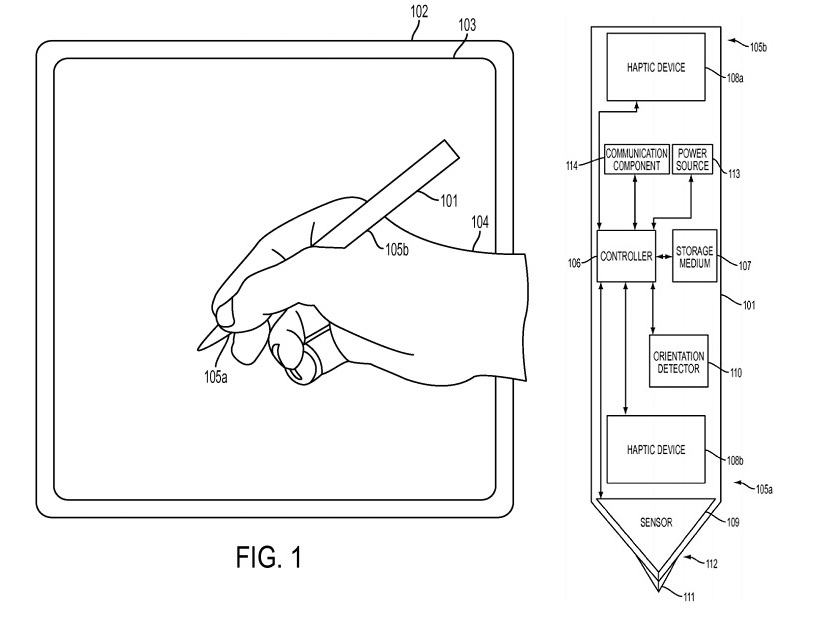 Apple stylus patent iPad Pro