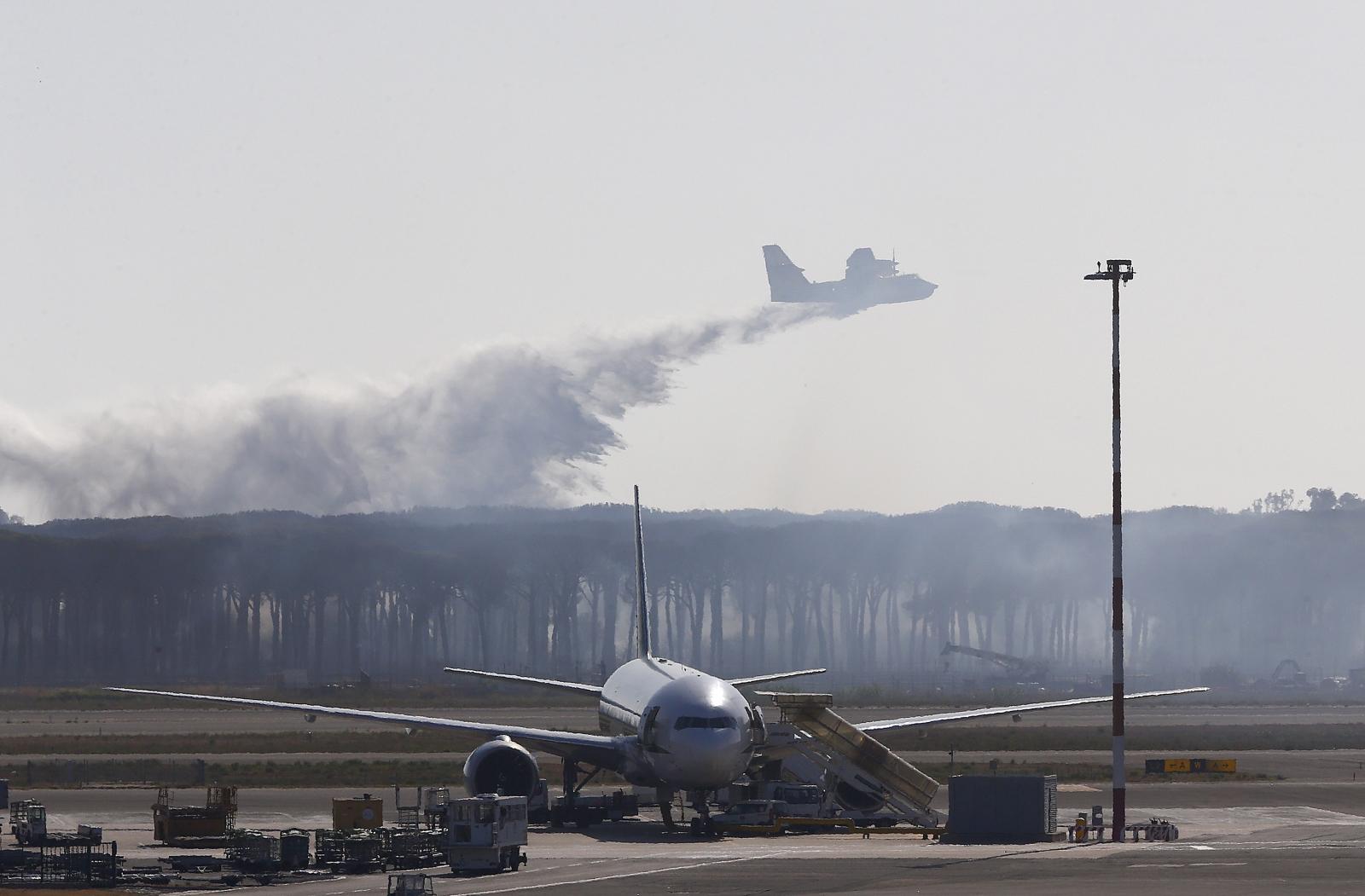 Rome's Fiumicino airport Fire