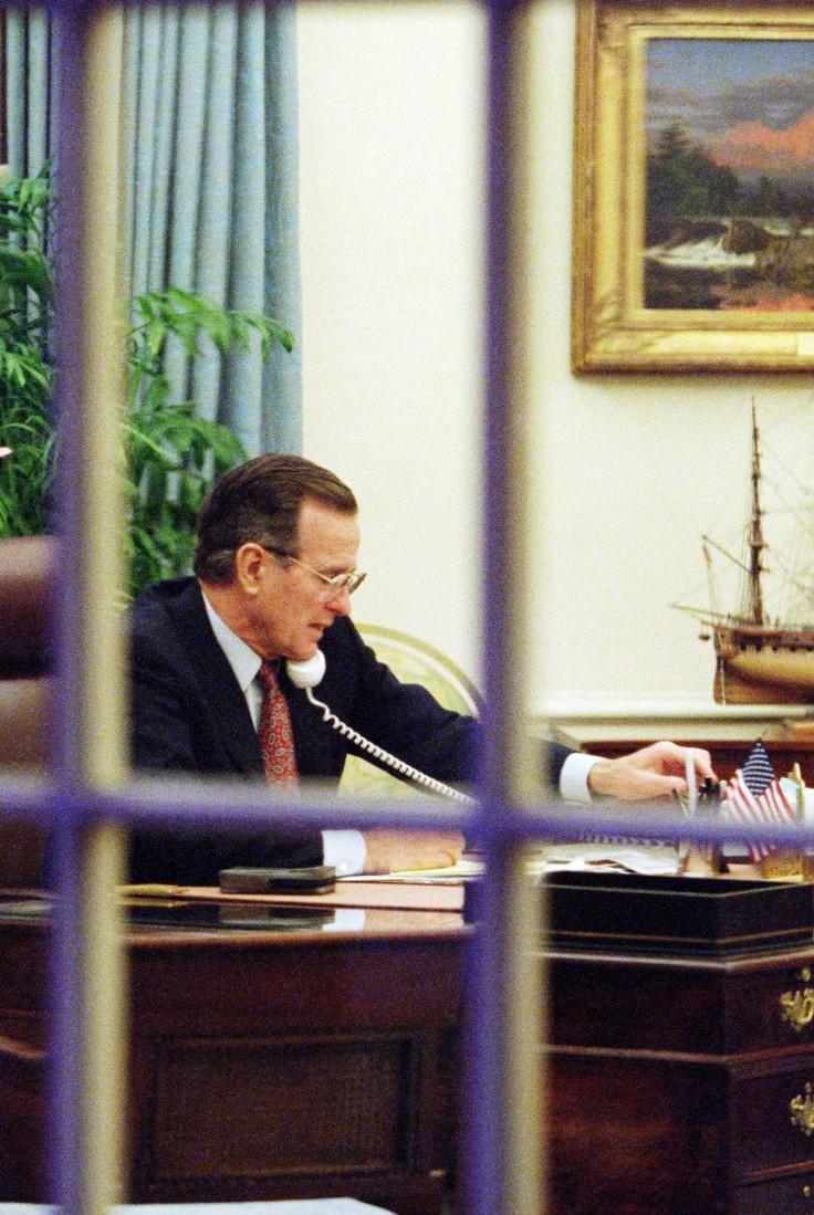 US President George Bush Gulf War