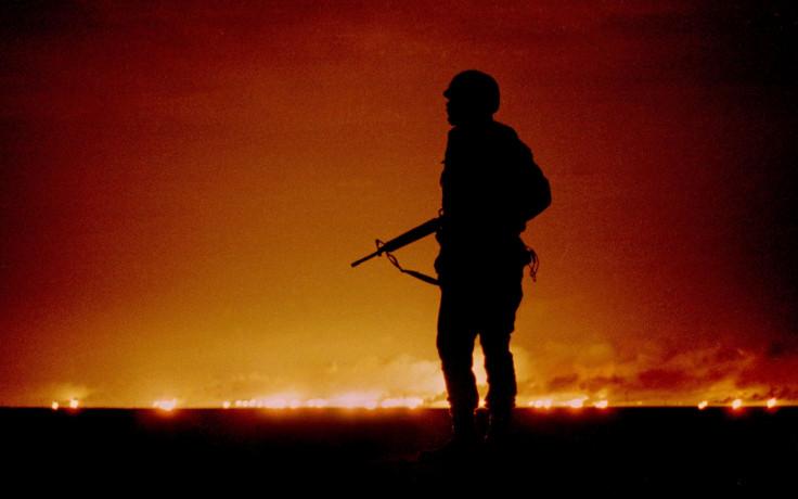 Kuwait oil fields fire Gulf War