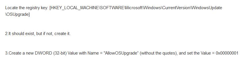 Windows 10 registry fix