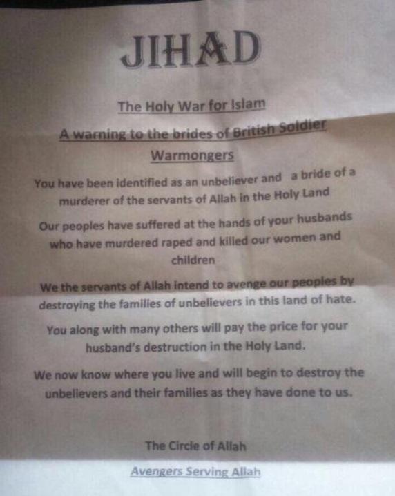 jihadi letter
