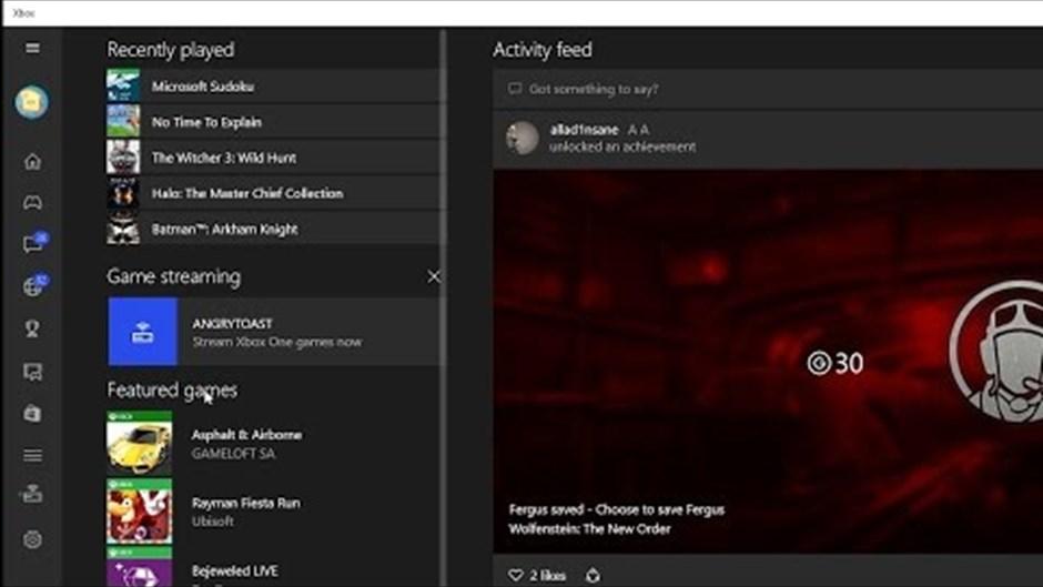 Stream Xbox One games to Windows PCs