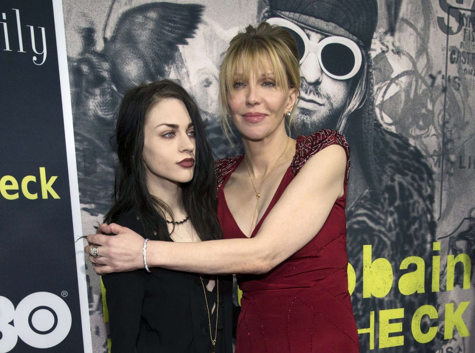 Courtney Love and Frances Cobain
