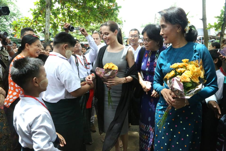 Angelina Jolie in Myanmar