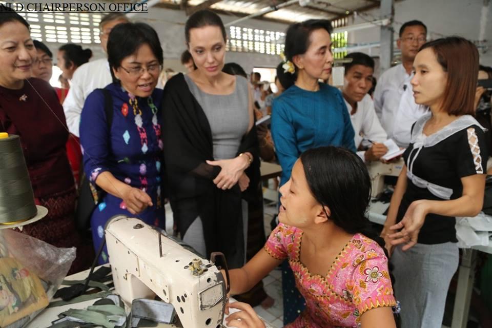 Jolie and Suu Kyi
