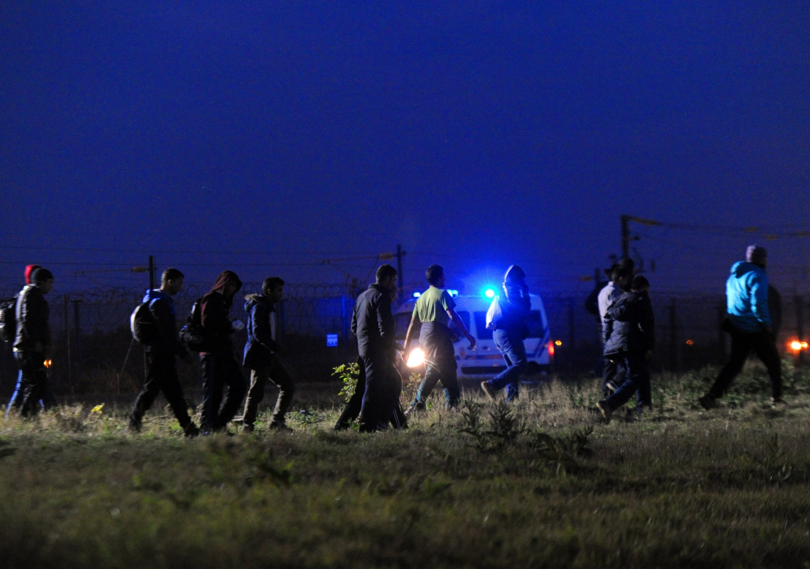 Migrants avoid the police