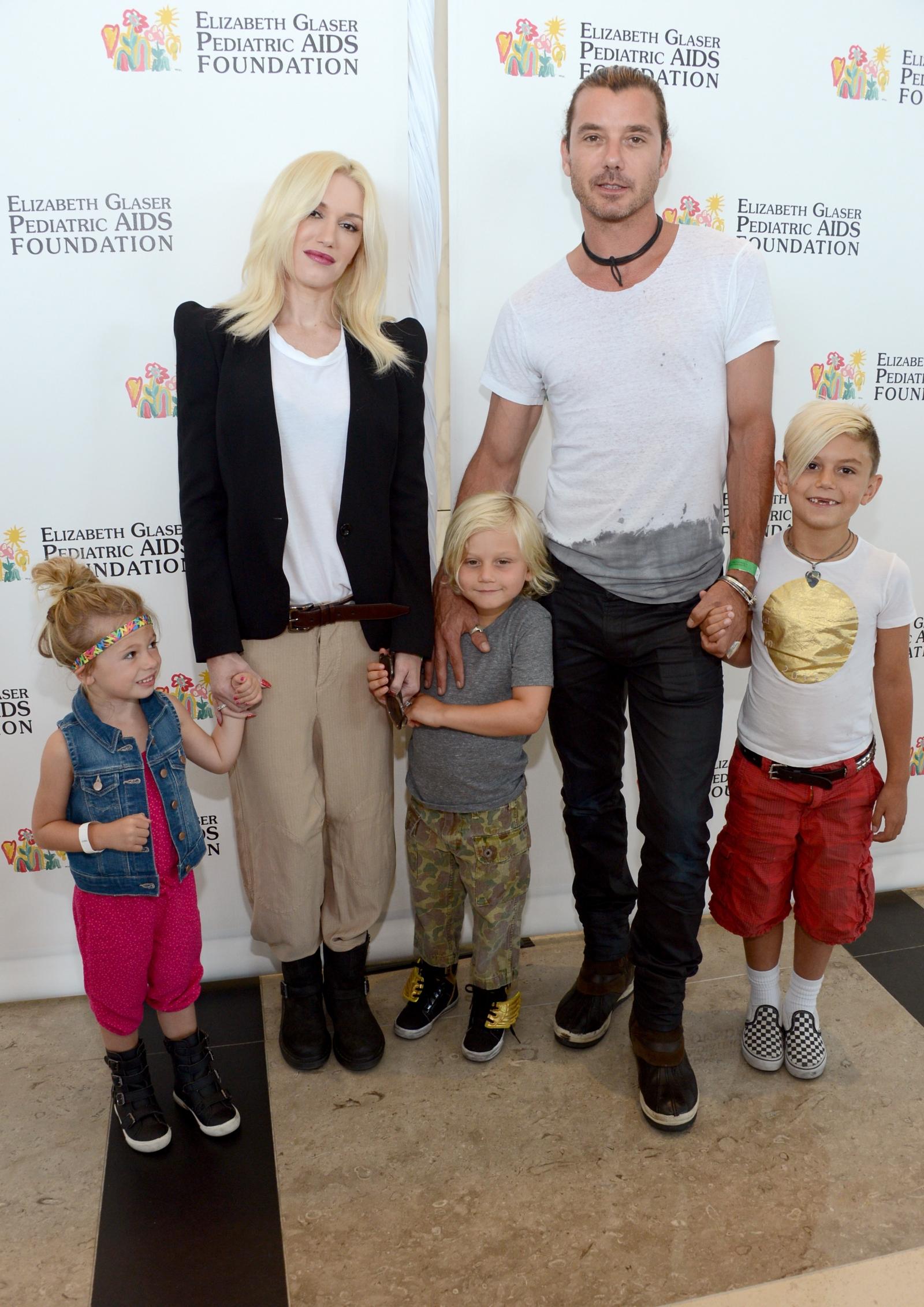 Gwen Stefani, Gavin Rossdale and their children