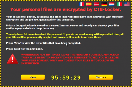 Windows 10 ransomware CTB-Locker
