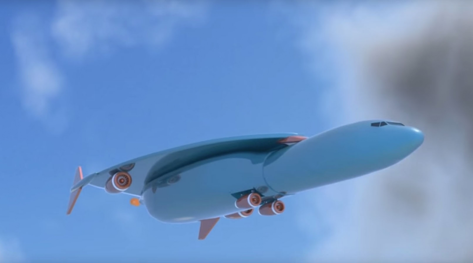 Artist's impression of Airbus hypersonic aircraft