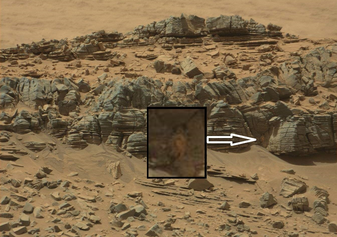 Mars crab monster rock