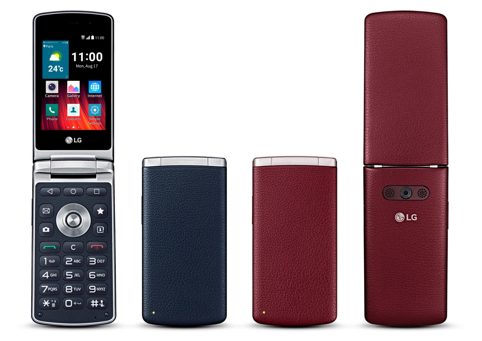 LG Wine Smart Flip Phone UK launch