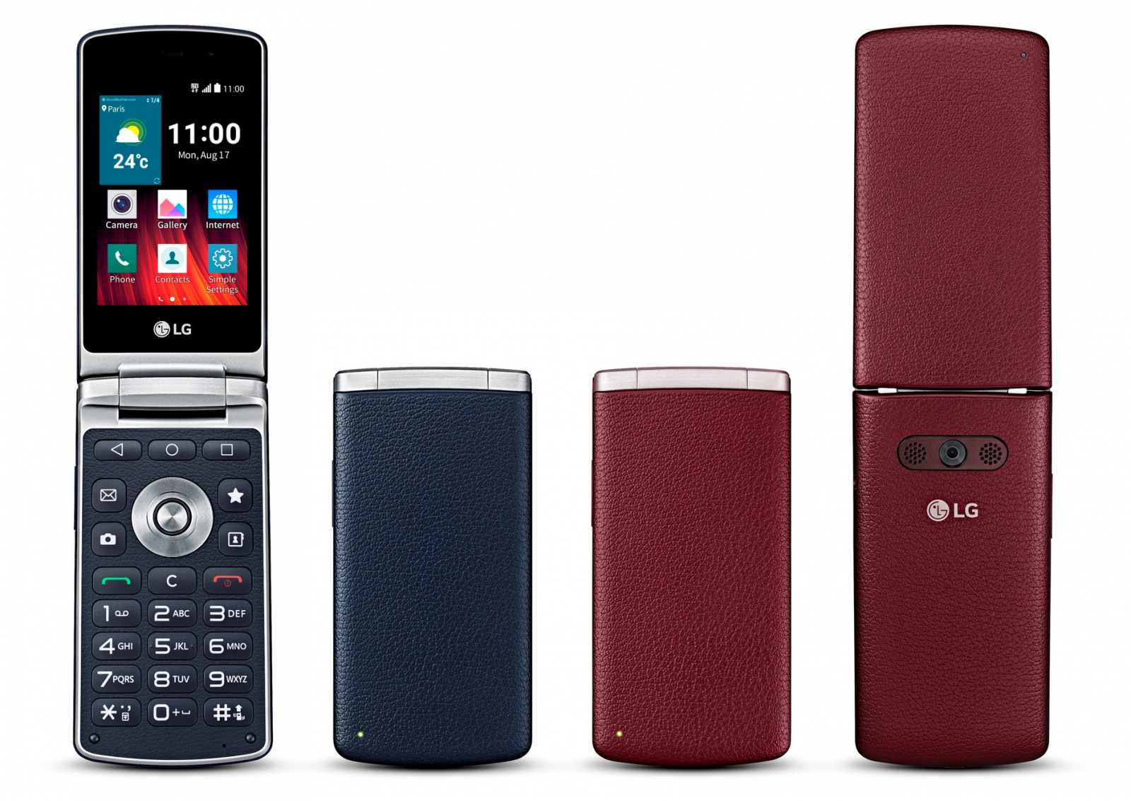 LG Wine Smart Flip Phone UK launch