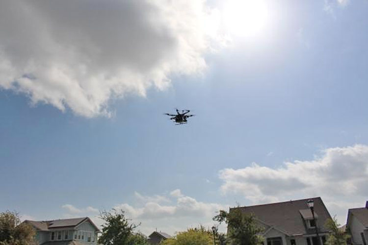 Drone searching for IoT devices in Texas