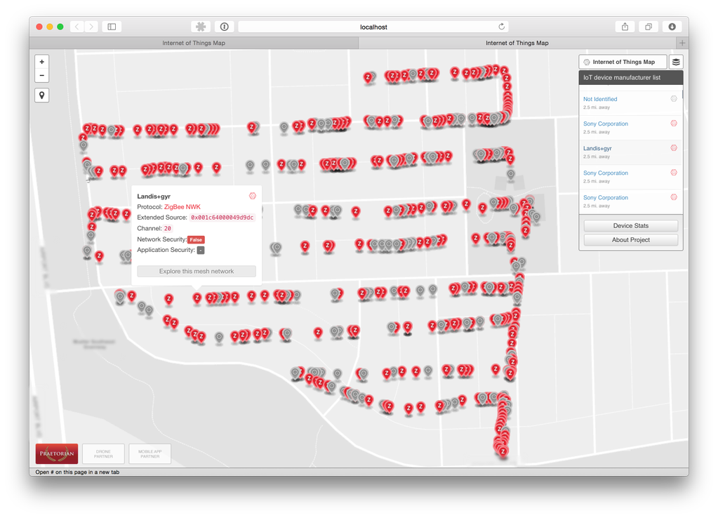 Praetorian's Internet of Things real-time drone map