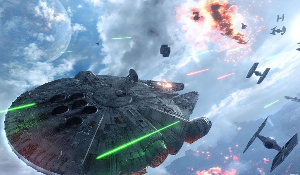 Star Wars Battlefront Millennium Falcon